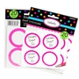 Hot Pink Favor Sticker Labels 20ct