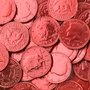 Red Chocolate Coins - 1 LB Bag