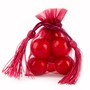 Burgundy Mesh Favor Bags With Tassels - 12CT