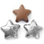 Foiled Chocolate Stars silver
