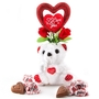 Milk Chocolate Gift With Teddy Bear
