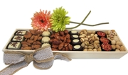 Wooden Chocolate and Nuts Platter - Israel Only