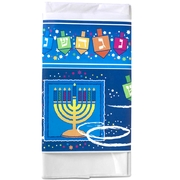 Chanukah Stars & Swirls Plastic Table Cover
