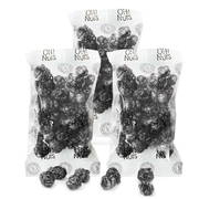 Black Candy Coated Popcorn Snack Pack