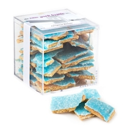 Gourmet Hand-Made Brittle - White Chocolate & Blue Sugar
