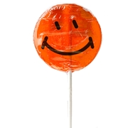 Orange Smiley Face Lollipops - 1.5 oz