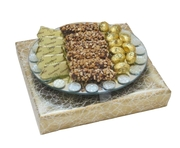 Round Mirror Tray Chocolate Arrangement - Israel Only