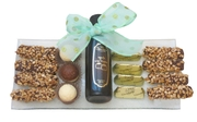 Glass Tray With Chocolate Liquor - Israel Only