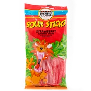 3.5 oz Sour Sticks - Strawberry - 3-Pack