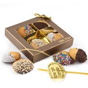 4-Pc. Chocolate Dipped Honey Cookie Gift Box