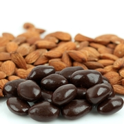 Wholesale Dark Chocolate & Sesame Brittle Almonds - 10 LB Case