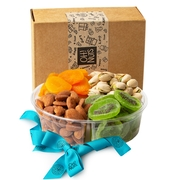 4 Section Fresh Dried Fruits & Nuts Gift Platter