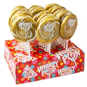 Gold Swirl Whirly Pops