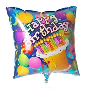 Square Happy Birthday Balloon