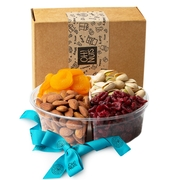 4 Section Sweet Dried Fruits & Nuts Gift Platter