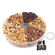 Fathers Day 6-Section Assorted Nut Platter