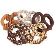 Wholesale Assorted Chocolate Covered Pretzels - 60CT Box