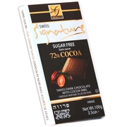 Sugar Free 72% Cocoa Chocolate Bar with Cocoa Nibs