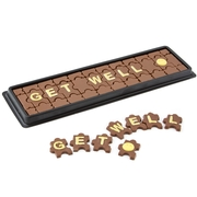 Get Well Chocolate Gift - Hand Made Milk Chocolate Puzzle Pieces