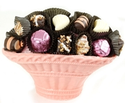Baby Girl Chocolate Truffle Chocolate Basket