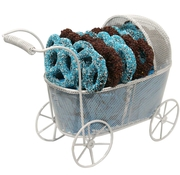 Baby Boy Carriage W/Pretzels