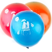 Bar Mitzvah Assorted Balloons - 10CT