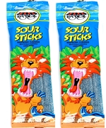 1.75 oz Sour Sticks - Blue Raspberry - 3-Pack
