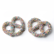 Chocolate Covered Pretzels with Rainbow Nonpareils - 10CT