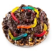 Chocolate Pretzel Pie With Gummy Snakes - 12