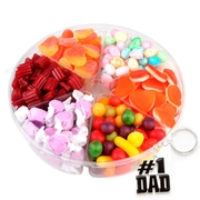 Fathers Day 6-Section Candy Gift Tray