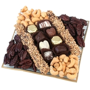 Nuts & Chocolate Square Glass Gift Tray