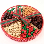 Large Holiday Beaded Gift Tray