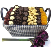 Blue & White Chocolate, Nut & Dried Fruit Basket