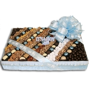 Baby Boy Chocolate & Nut Square Gift Basket