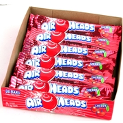 Cherry AirHeads Taffy Candy Bars - 36CT Case