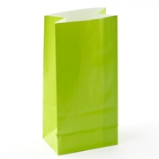 Green Paper Treat Bags - 12CT