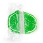 Wrapped Lime Jelly Fruit Slices - 24 Pieces