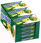 Mentos 3D Sugar Free Gum - Fruity Fresh (15CT Box)