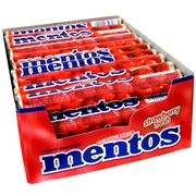 Strawberry Mentos Rolls - 40CT Case