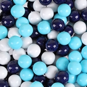 Navy Blue, Light Blue & White Sixlets