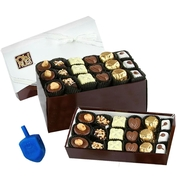 Hanukkah Oh! Nuts Chocolate Truffle Gift Box - 36 Pc.
