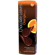 Orange Belgian Dark Chocolate Leaves