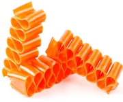 Old Fashioned Orange Thin Candy Ribbon - 6CT Box