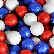 Patriotic Foiled Milk Chocolate Balls Foiled Milk Chocolate Balls