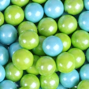 Powder Blue & Lime Green Shimmer Mini Gumballs