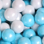 Powder Blue & White Shimmer Pearl Gumballs