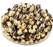 Chocolate Caramel Popcorn Pie