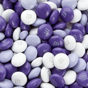 Purple, Lavender & White M&M's Chocolate Candy