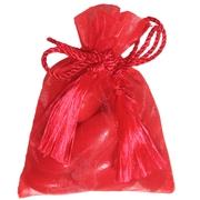 Red Mesh Party Bags - 12 pk