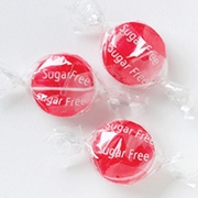 Sugar-Free Cherry Buttons Hard Candy